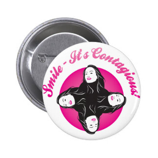 Smile-Its Contagious! Pinback Button