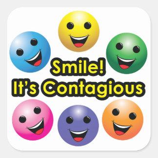 Smile! It's Contagious - sticker