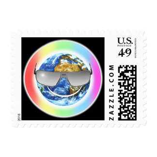 smile its earthday postage stamp