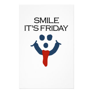 Smile It's Friday Stationery