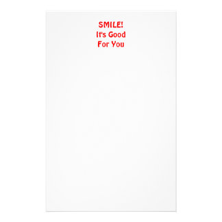 SMILE! It's Good For You. Red. Stationery