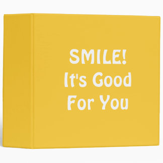 SMILE! It's Good For You. Yellow. Binder