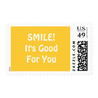 SMILE! It's Good For You. Yellow. Postage