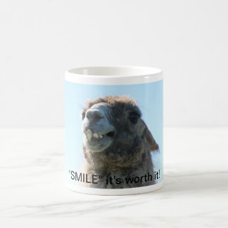 """Smile"" It's Worth It! Classic White Coffee Mug"