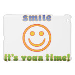 Smile It's Yoga Time! Health Fitness New Age iPad Mini Cases