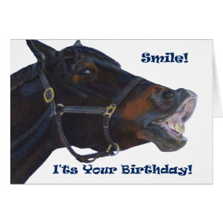 Smile!  It's Your Birthday! Horse Card
