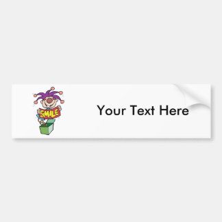 Smile ~ Jack Box Toy Word Play Bumper Sticker