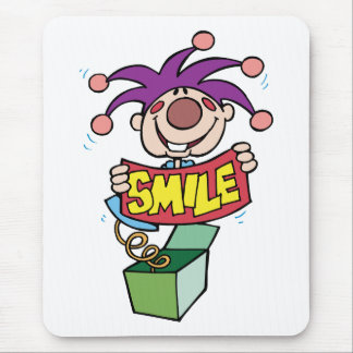 Smile ~ Jack Box Toy Word Play Mouse Pad