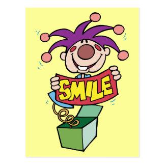 Smile ~ Jack Box Toy Word Play Postcard