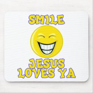 Smile Jesus Loves Ya Mouse Pad