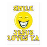 Smile Jesus Loves Ya Post Card
