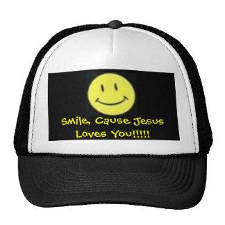 smile jesus loves you 1 trucker hat