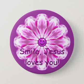 Smile, Jesus loves you! Button