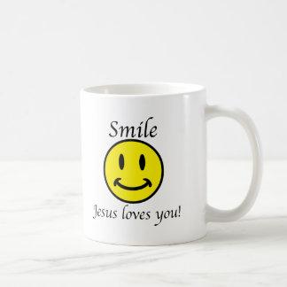 Smile, Jesus loves you Coffee Mug