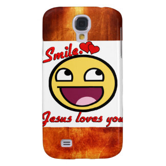 SMILE JESUS LOVES YOU GALAXY S4 CASE
