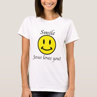 Smile, Jesus loves you T-Shirt