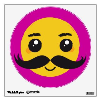 Smile Kawaii Moustache Wall Sticker