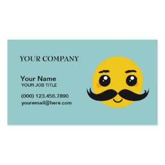 Smile Kawaii Mustache Business Card