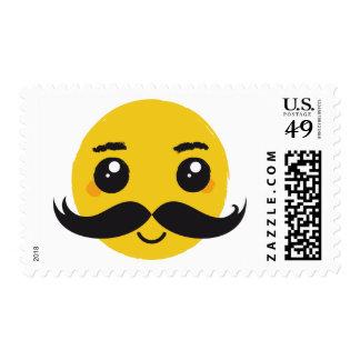 Smile Kawaii mustache postage