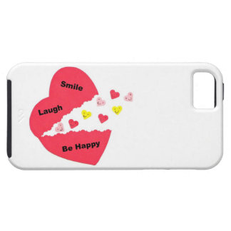 Smile, Laugh, Be Happy; Happy Hearts iPhone SE/5/5s Case