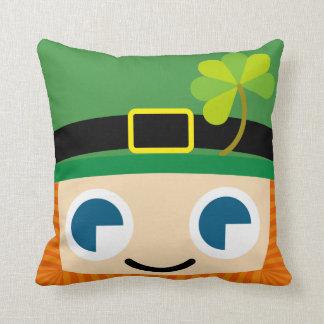smile Leprechauns Throw Pillow