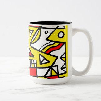Smile Light Beneficial Passionate Two-Tone Coffee Mug