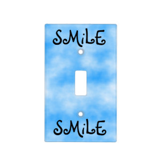 Smile-light switch cover