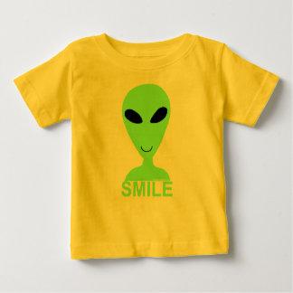 Smile Little Green Man T-Shirt