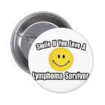 Smile...Love a Lymphoma Survivor 2 Inch Round Button