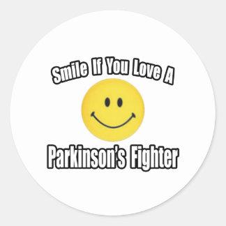 Smile Love a Parkinson s Fighter Sticker