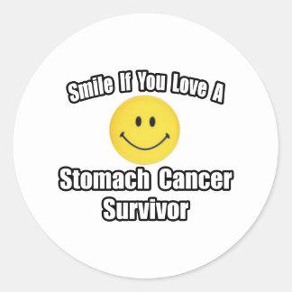 Smile...Love a Stomach Cancer Survivor Round Sticker