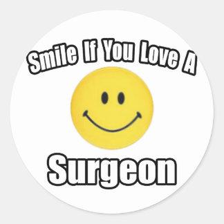 Smile...Love a Surgeon Classic Round Sticker