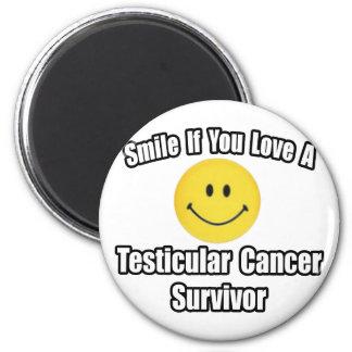 Smile...Love a Testicular Cancer Survivor Refrigerator Magnet