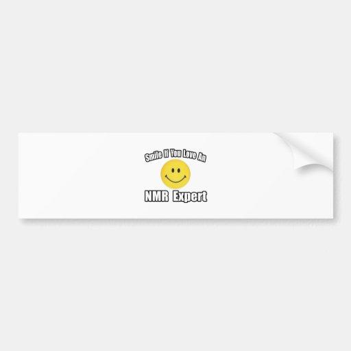 Smile...Love an NMR Expert Car Bumper Sticker