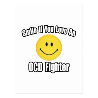Smile...Love an OCD Fighter Postcard