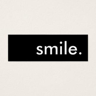 smile. mini business card