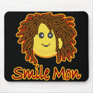 Smile Mon Fire Rasta Smiley Face Mouse Pad