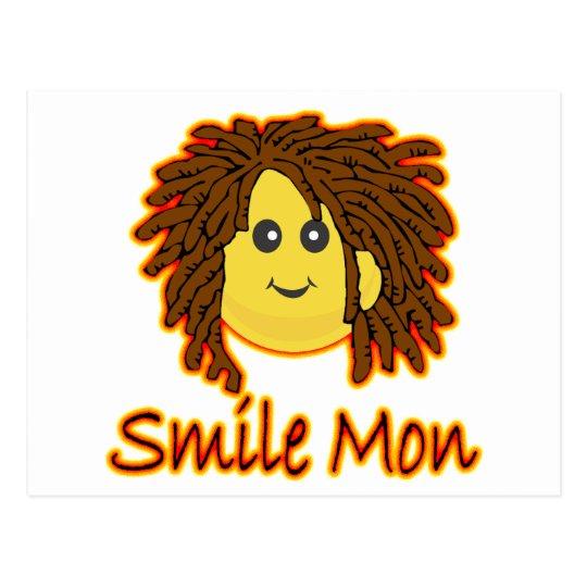 Smile Mon Fire Rasta Smiley Face Postcard