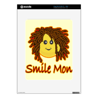 Smile Mon Fire Rasta Smiley Face Decal For iPad