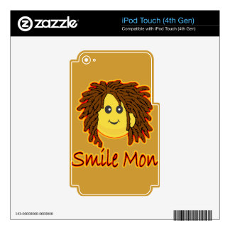 Smile Mon Fire Rasta Smiley Face Skin For iPod Touch 4G