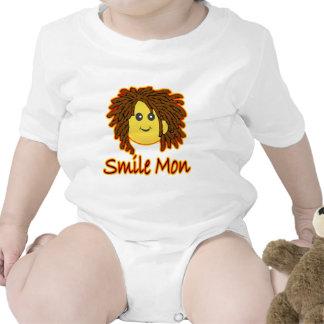 Smile Mon Fire Rasta Smiley Face Tee Shirts