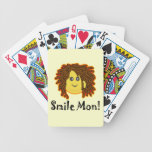 Smile Mon! Rasta Smiley Face Bicycle Poker Deck