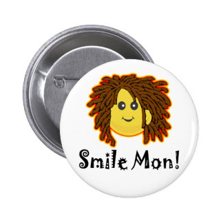 Smile Mon! Rasta Smiley Face Buttons