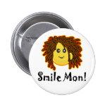 Smile Mon! Rasta Smiley Face Buttons
