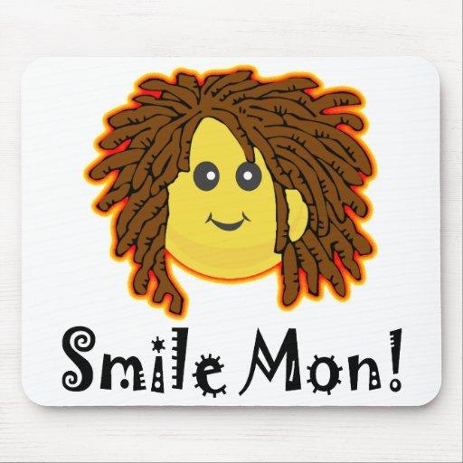 Smile Mon! Rasta Smiley Face Mouse Pad
