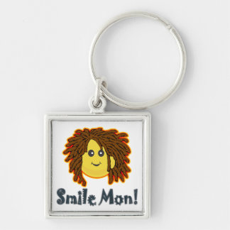 Smile Mon Rasta Smiley Face Nuts Bolts Keychain