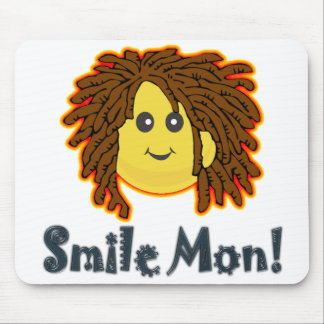 Smile Mon Rasta Smiley Face Nuts Bolts Mouse Pad