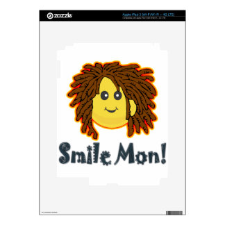 Smile Mon Rasta Smiley Face Nuts Bolts Decal For iPad 3