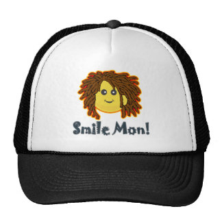 Smile Mon Rasta Smiley Face Nuts Bolts Trucker Hat