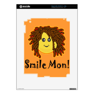 Smile Mon! Rasta Smiley Face Decals For iPad 2